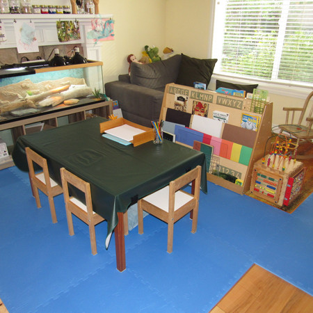 Our Indoor Art Table and Area