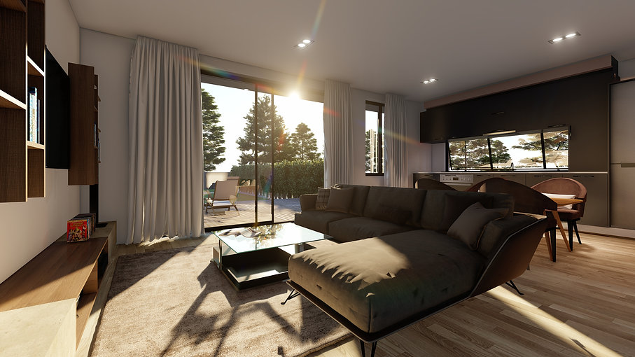 Swaffield Apartments have been designed to ensure the main living area faces north, to capture sunlight, natural warmth and good indoor/outdoor flow.