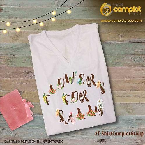 "Camisetas Chicas ""Flowers"""
