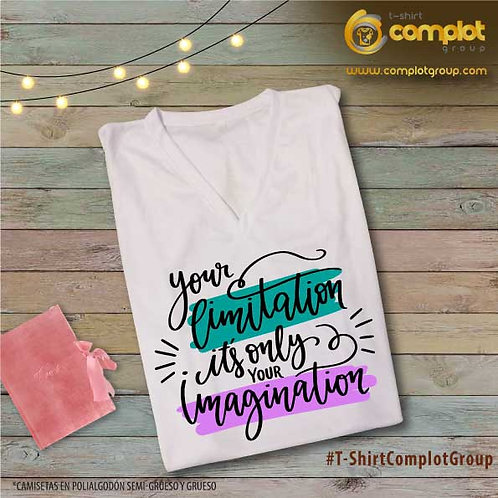 "Camisetas Chicas ""Your limitation"""