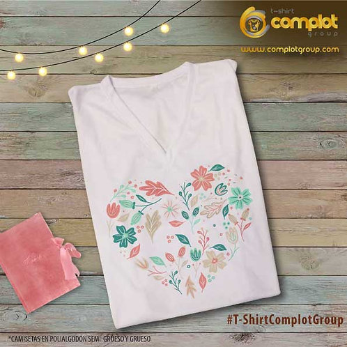 """Camisetas Chicas """"Corazón hojitas"""""""