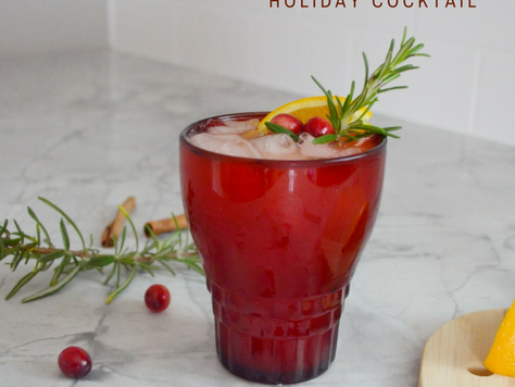 Orange Cranberry Bourbon Holiday Cocktail