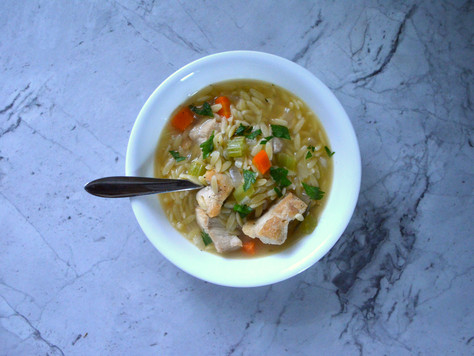 Ease into spring with Lemon Chicken Orzo Soup
