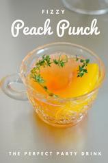 Fizzy Peach Punch