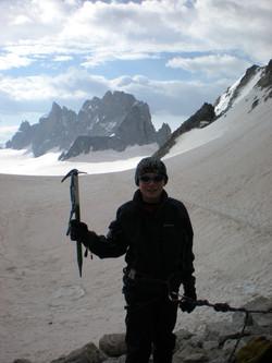 Standing in Switzerland at 3100m