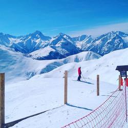 Alpe D'Huez, going down La Sarenne the 16km black run