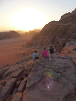 Sunset over the Wadi Rum