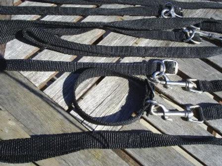 Black Nylon Webbing Collar & Lead Set (BNWCLS)