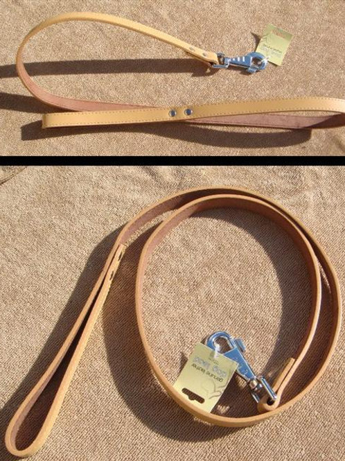 Light Tan Quality Leather Lead 'Pukka Pets' (LTTL)