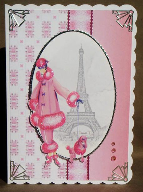 Pink Blank with Wintery Scene Greetings Card (PBWSGC)