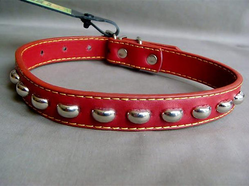 Red Collar with Silver Studs - Medium (RSSC)