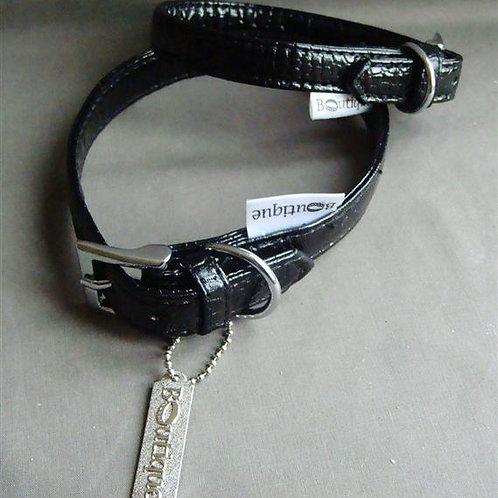 Black Patent 'Boutique' Collar - Extra Small (PBC)