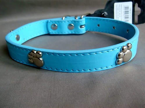 Blue Collar with Silver Paws - Medium (BBMPC)