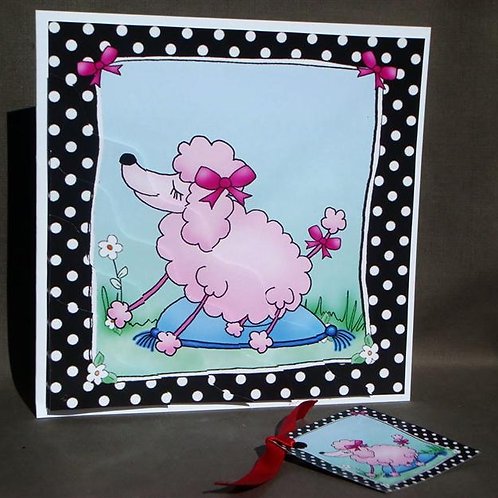 Blank Greetings Card with Gift Tag (BWTGC)