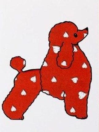Red Heart PoodleGreetings Card (RHPGC)