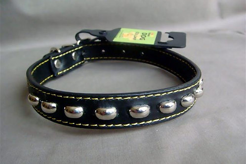 Black Collar with Silver Studs - Medium (BSSC)