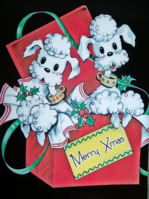 Poodle Present Christmas Card (PPCC)