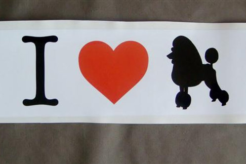 'I Love Poodles' Bumper Sticker (ILPBUMPS)