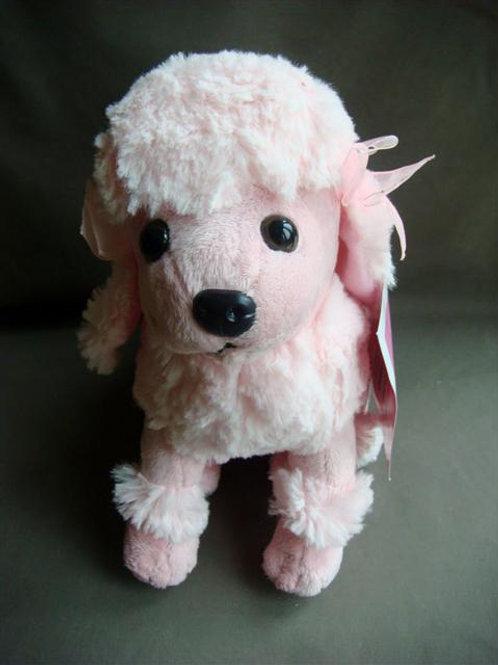 Pink Plush Poodle