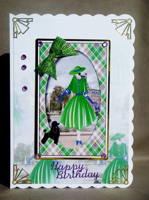 Lady in Green 'Happy Birthday' (LGBC)