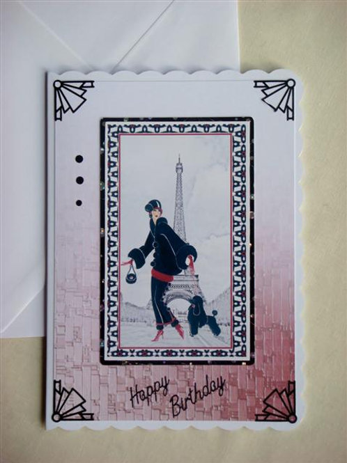 Black Parisienne Happy Birthday Card (BPBC)