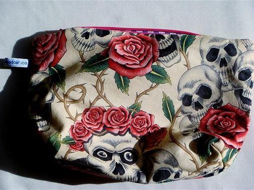Skull & Roses Cosmetics Bag
