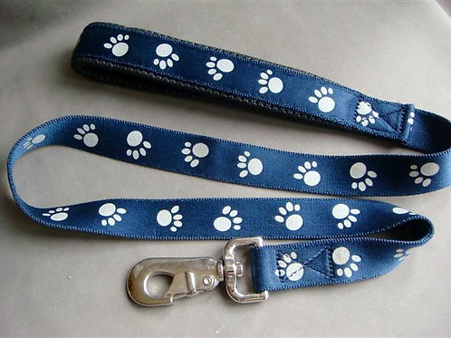 Blue White Paw Nylon Lead (BWPNL)