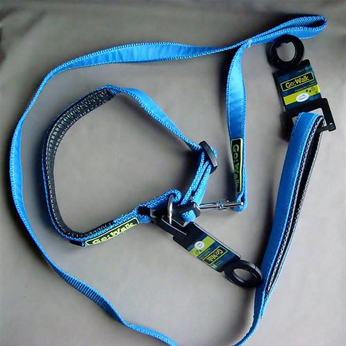 'Go-Walk' Adjustable Dog Collar & Lead Set (GWADCLS)