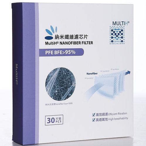 MultiH® 納米纖維濾芯30片裝