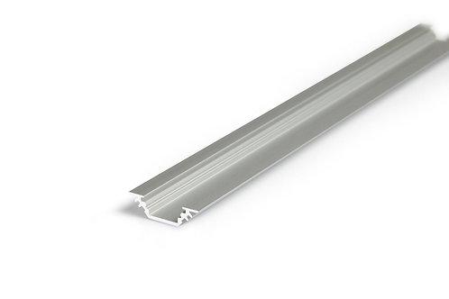 LED Alu Schiene 90° mit Abdeckung