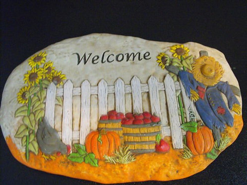 Fall Welcome Stone
