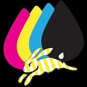 Quick-Bunny-Ink-Logo(Stripes)(No-font).p