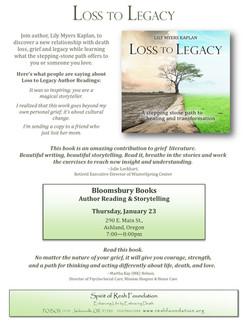 L2L Author Talk Flier.Bloomsbury Books