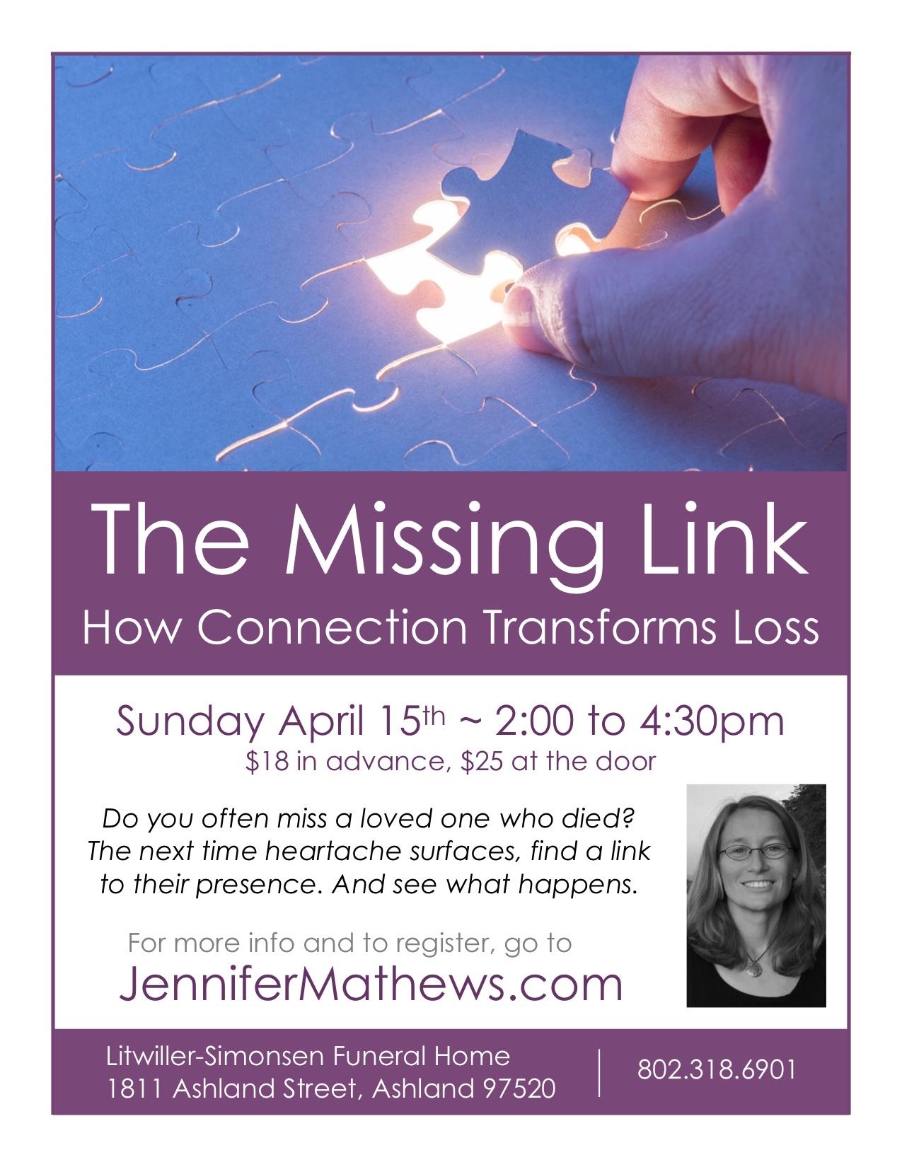 Missing Link April 2018