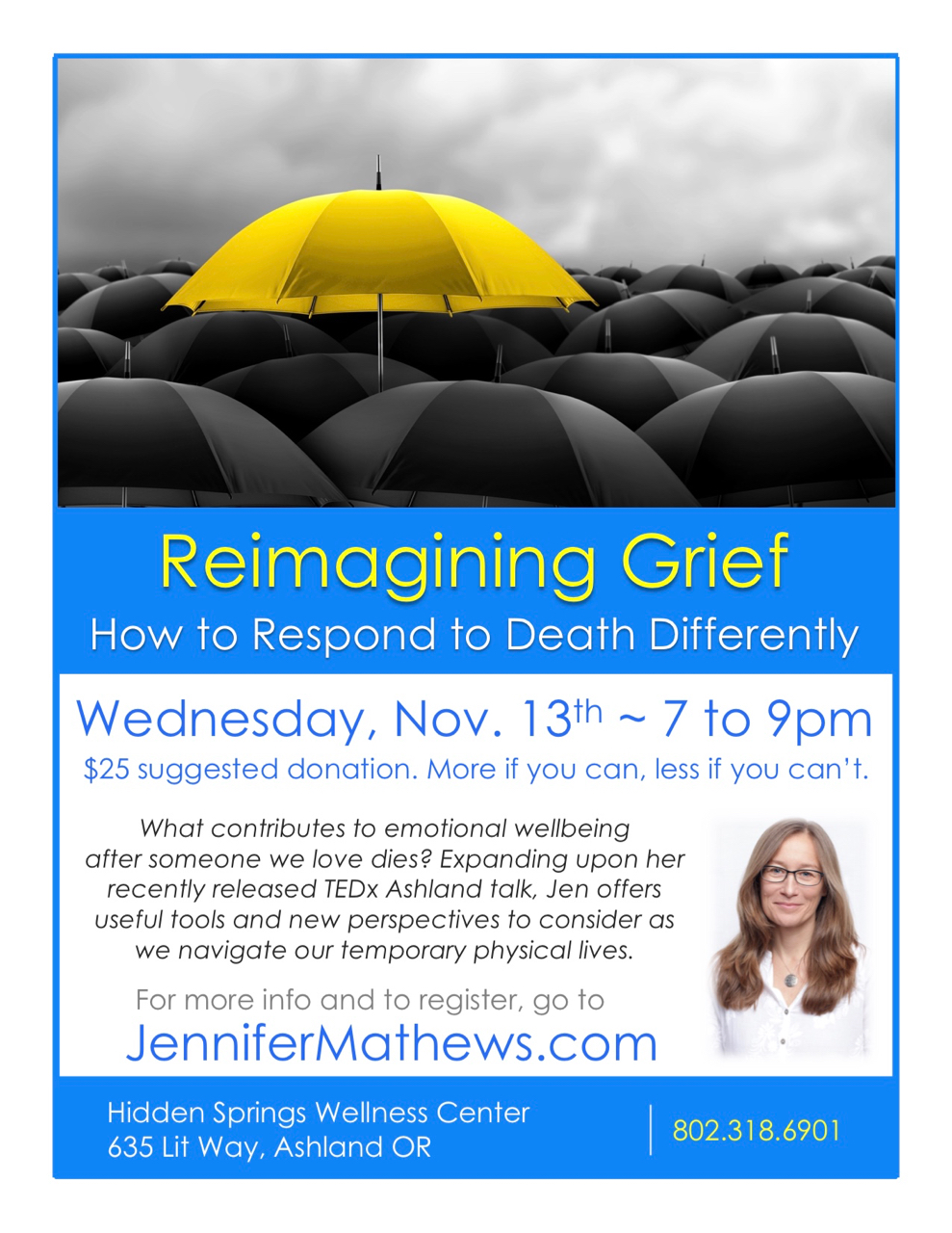 Reimagining Grief Ashland Nov 2019