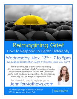 Reimagining Grief Ashland Nov 2019