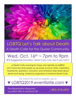 LGBTQ FINAL Death Cafe Ashland 2019