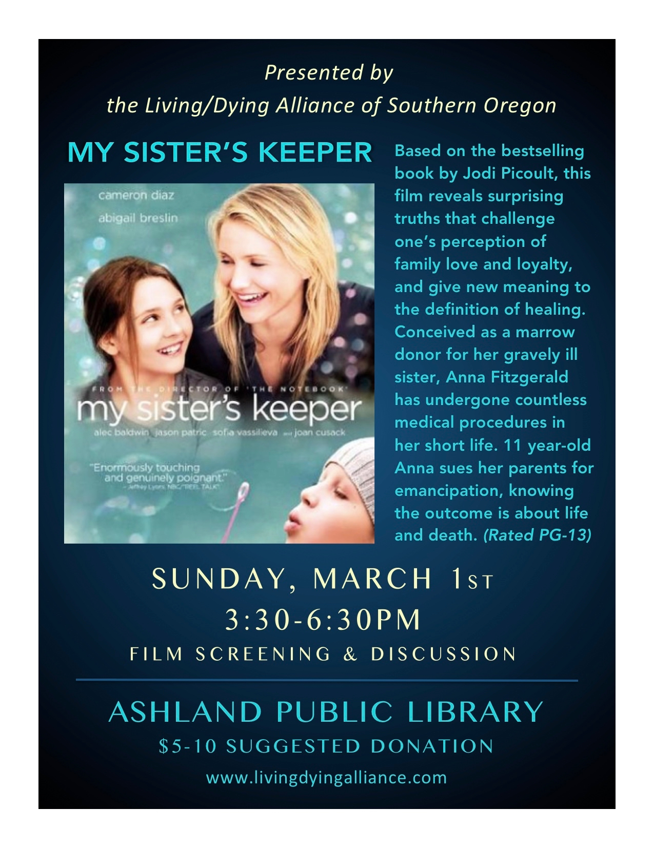 LDA Mar 2020 My Sisters Keeper FLYER