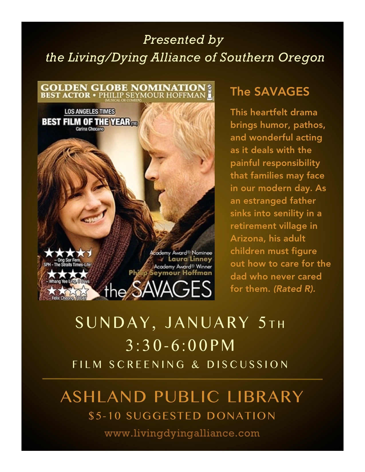LDA Jan 2020 The Savages FLYER R