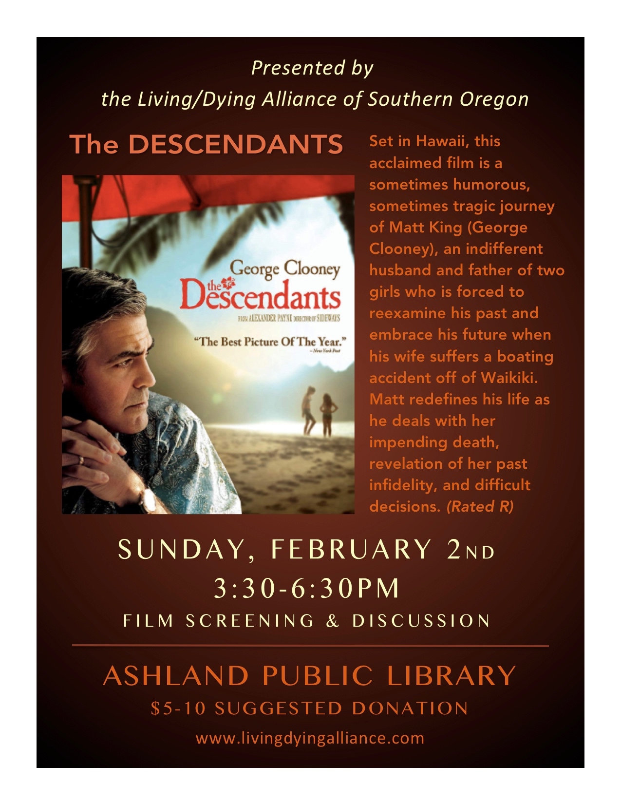 LDA Feb 2020 The Descendants FLYER