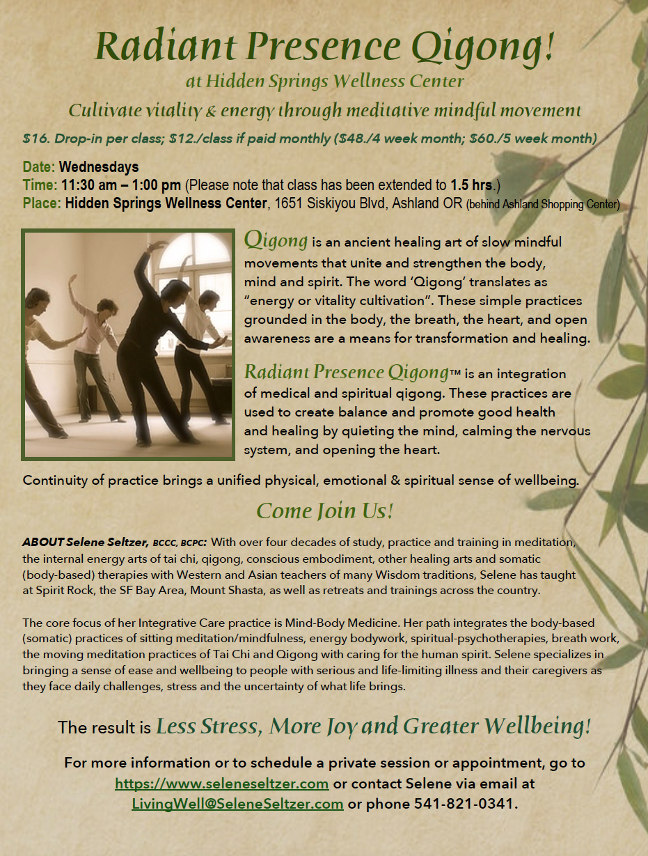 Qigong Flyer Sept 2018