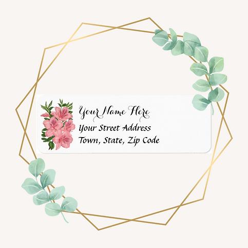 Paper Goods Vintage Floral Return Address Label icon 221.png