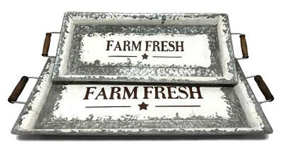 Set of 2 Farm Fresh Trays