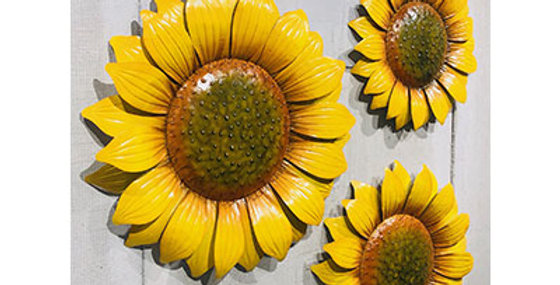 50025 Set of 3 Sunflower Wall Decor