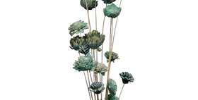 41039 20 Stem Ting Mixed Flower Branches - SeaFoam