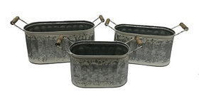 10358 Set of 3 Oval Double Handle Baskets