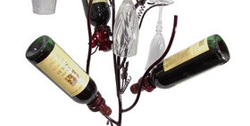 88599 Bottle and Glass Stem Holder-Merlot-28599