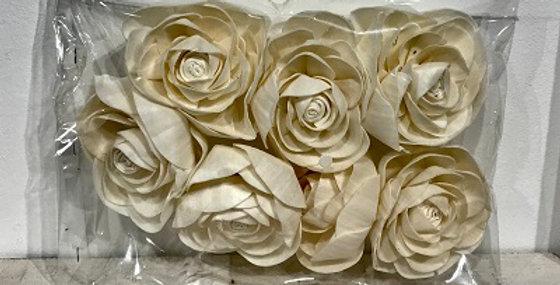 7 pc Tea Rose Flower Heads