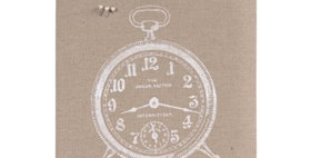 694740 TIME...CLIP BOARD-FLAX