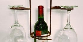 88013 Swirl Wine Holder with Four Stem Holder-Merlot-280